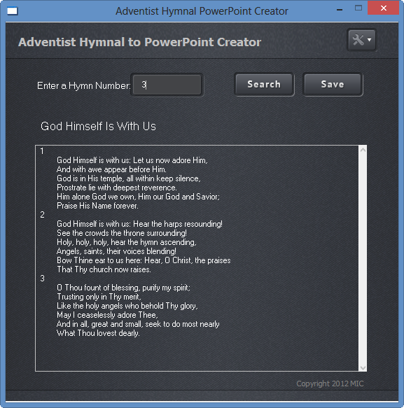 Adventist Hymnal PowerPoint