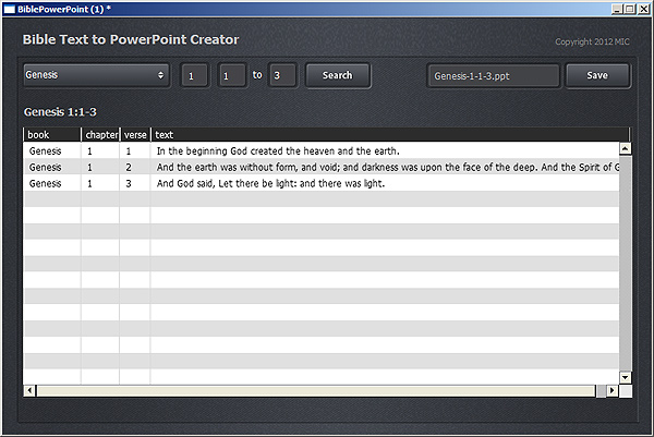 bible text powerpoint creator